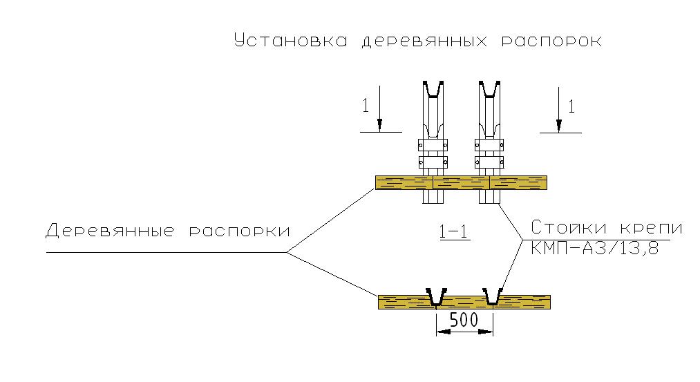 Установка деревянных распорок